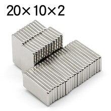 5/10/20/60 Pcs 20x10x2 blok magnes neodymowy NdFeB N35 Super mocny imanes permanentny magnetyczny