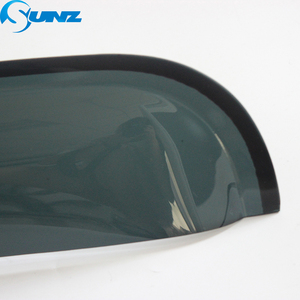 Image 4 - Czarny wiatr Visor dla HYUNDAI SANTAFE 2014 boczna szyba deflektory osłony przeciwdeszczowe dla HYUNDAI SANTA FE 2014 SUNZ