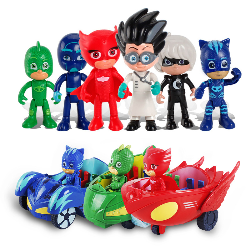 Toys Masked Pajamas Parking-Set Action-Figure Girls Small Heroes Kids Boys Child PVC
