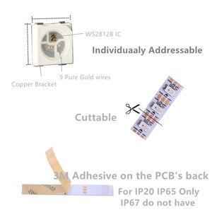 Image 3 - 1 m/5 m WS2812B الذكية led بكسل قطاع ، الأسود/الأبيض PCB ، 30/60/144 المصابيح/m WS2812 IC. WS2812B/M 30/60/144 بكسل ، IP30/IP65/IP67 DC5V