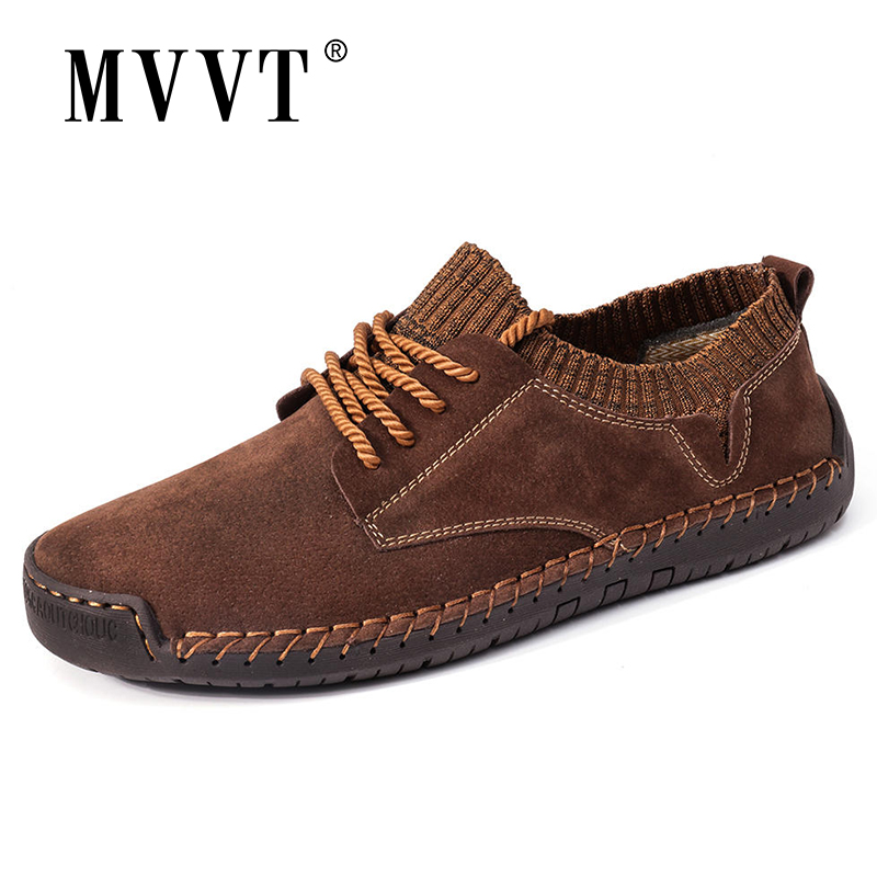 Fashion Casual Shoes Men Sneakers Breathable Suede Leather Shoes Men Loafers Comfort Men Shoes Outdoor Driving Shoes Zapatos