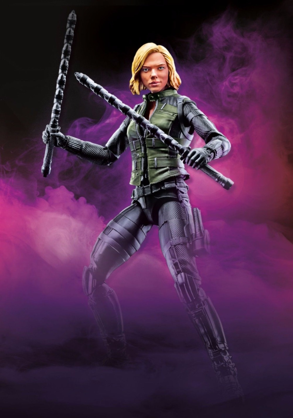 "2018 Marvel Legends Infinity War BLACK WIDOW 6/"" Action Figure Obsidian Cull BAF"