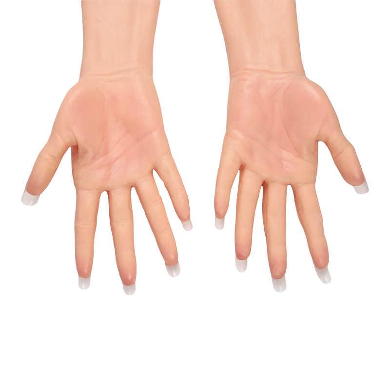 Tgirl Silikon Prothese Weibliche Hand Hülse Hoch Simulierte Haut Künstliche Arm Abdeckung Narben