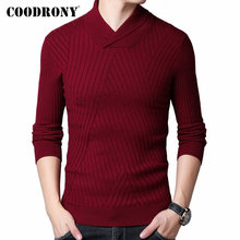 COODRONY Sweater Men Autumn Winter Thick Warm Wool Pullover Men Streetwear Fashion Slim Fit Turtleneck Knitwear Pull Homme 91097