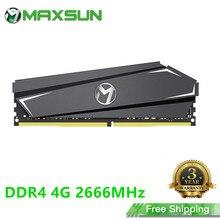 Maxsun completa nova memória ram ddr4 4gb 2666mhz 3 anos de garantia 1.2v 288pin memória ram ddr4 módulo computador desktop