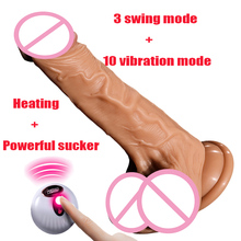 Huge Dildo Vibrator Heating Skin Feeling Realistic Penis Vibrating Sex Toy For Women Soft Big Dildos Silicone Female Masturbator
