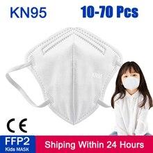 10-200 Pcs KN95 Kids Masks 5 Layers Filter masque Anti Dust PM2.5 FFP2 Children Masks Boy and Girl Face Mask Mascarillas maske