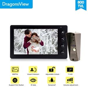 Image 5 - Dragonsview système dinterphone vidéo de porte de 7 pouces, blanc/noir, interphone pour ouverture privée