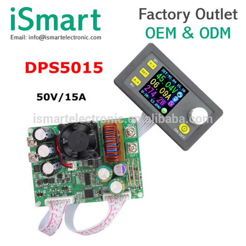 <font><b>DPS5015</b></font> Constant Voltage current Step-down Programmable digital Power Supply buck Voltage converter color LCD voltmeter <font><b>15A</b></font> image