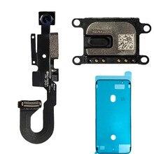 3 sztuk/zestaw przednia kamera Flex cable + słuchawka słuchawka głośnik dźwięku + wodoodporna naklejka na iPhone 7 7 Plus