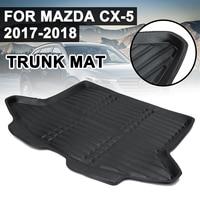 Cargo Liner Boot Mat Rear Trunk Liner Cargo Floor Tray Carpet Mud Pad Kick Guard Protector For Mazda CX 5 CX5 2017 2018