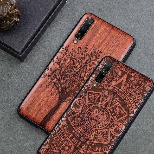 For Xiaomi Mi A3 Case Boogic Original Wood funda Mi A3 Lite Rosewood Cover Phone Case For Xiaomi Mi CC9 CC 9e