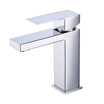 Bathroom Sink Single Handle Lead-Free Type Stainless Steel Faucet Lavatory Single Hole Vanity Sink Faucet Polished Chrome