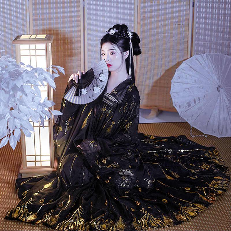 Hanfu Nữ Điệu Nhảy Truyền Thống Trang Phục Ca Sĩ Lễ Hội Trang Phục Dân Gian Rave Hiệu Suất Quần Áo Trung Quốc Voan Cổ Tích Đầm DC3762