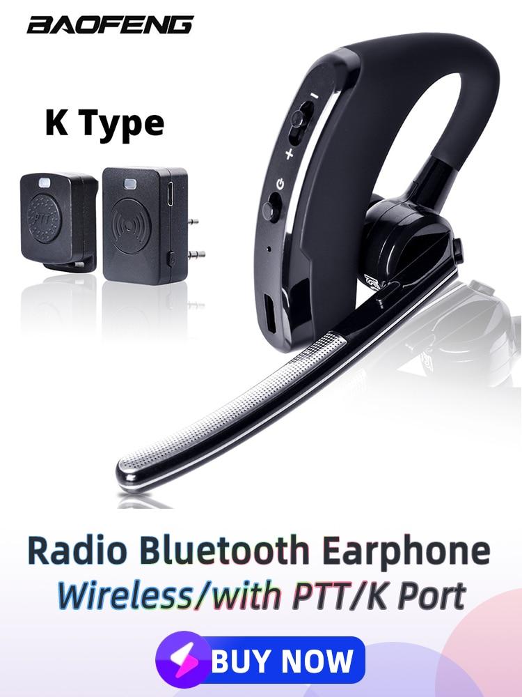 Baofeng Bluetooth Earphone Walkie-Talkie Two-Way-Radio 888s Wireless Uv-5r PTT for K-Port