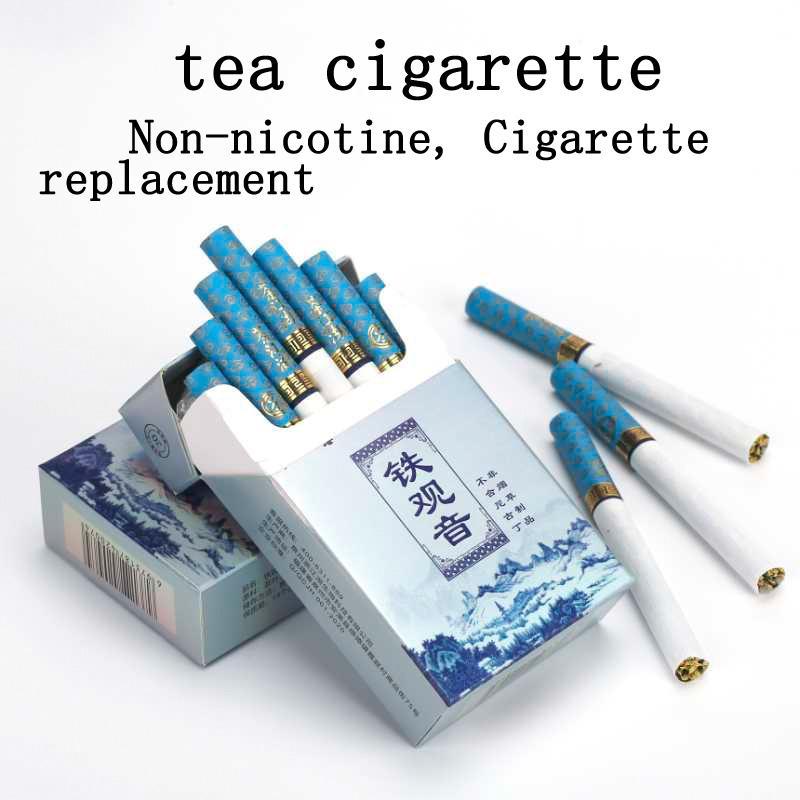 บุหรี่สมุนไพรจีน ยาสูบ รสชาอูหลง บุหรี่ไม่มีสารนิโคติน และทาร์ บุหรี่นำเข้า บุหรี่ สำหรับ ลด ละ เลิกบุหรี่