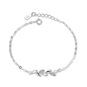 Lucky With Tree Leaves Silver Jewelry Ladies Bracelets Japanese and Korean Version Simple Jewelry Accessories Couple Bracelets 5
