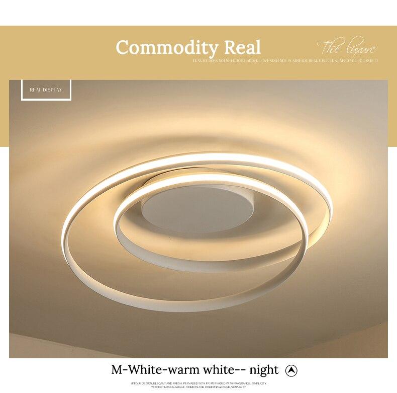 H00874537e0d14ac884e2f123570741d0e Modern Ceiling Lights LED Lamp For Living Room Bedroom Study Room White black color surface mounted Ceiling Lamp Deco AC85-265V