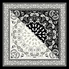 2021 de alta qualidade cachecóis 90cm * 90cm boêmio contraste cor caju moda senhoras grande lenço quadrado cachecóis reais