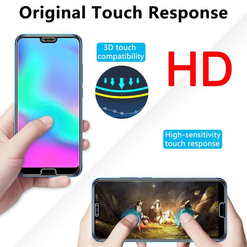 2 Pcs! Kehormatan Kaca Anti Gores untuk Huawei Honor 10 9 Lite Catatan 10 8 Smartphone Layar Protecor untuk Kehormatan 20 10i 20i Tersedia 10