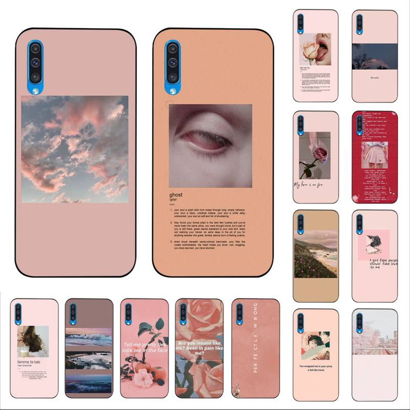 Yinuoda Pink Aesthetics Songs Lyrics Aesthetic Custom Photo Soft Phone Case For Samsung A10 20s 71 51 10s 20 40 50 70 A30s Cover Phone Case Covers Aliexpress