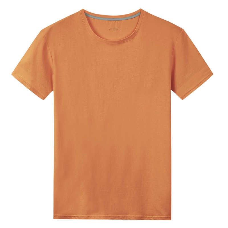 Nouveau hommes T-Shirts femmes 100% coton été court mâle femme solide basique T-Shirts plaine Logo o-cou grande taille 5XL T-Shirts enfant