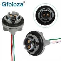 Gfoloza-Soporte de enchufe de bombillas 1157 BAY15D P21/5W, Conector de Base 1156 BA15S P21W para luces de marcha atrás/freno de coche, 2 uds.