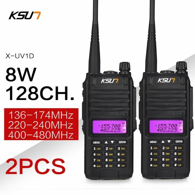 KSUN X UV1D Walkie Talkie 8W VHF UHFแบบDual Band 136 480MHz Handheld CommunicatorวิทยุHF Transceiver CBวิทยุ