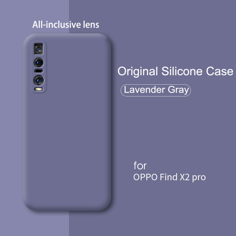 Arvin Luxury Silicone Case For OPPO Find X2 Pro Case Full Protection Shockproof Find X2 Cover Soft Microfiber Lining