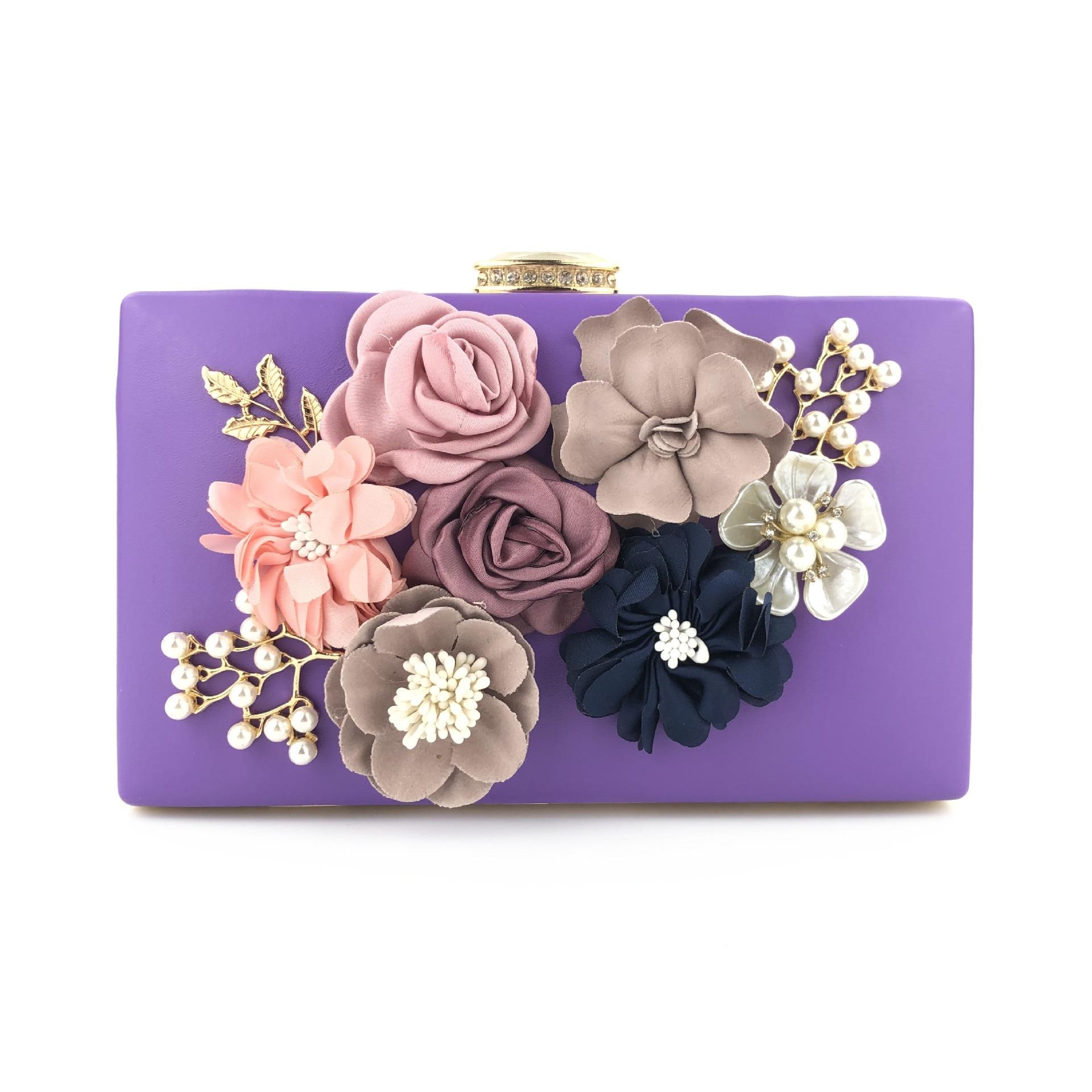 XIYUAN Women Flower Evening Bags Wedding Party Bridal Beaded clutch Purse Crystal Clutch Handbag Bolso Fiesta Mujer evening bag|Top-Handle Bags| - AliExpress