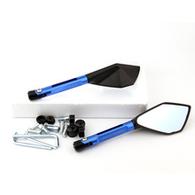 Universal Motorcycle Mirrors Accessories 8mm 10mm Rearview Blue Glass For Suzuki bandit 600 650 1200 gsxr 750 1000