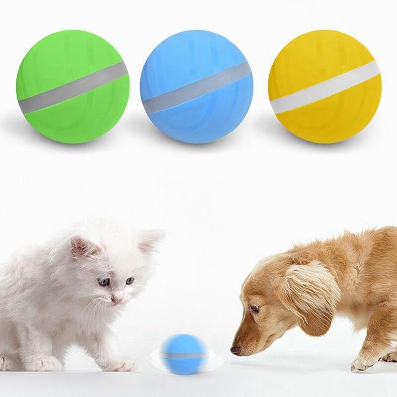 Nova Chegada À Prova D' Água Animais De Estimação Brinquedo Rolo Magia Bola Jumping Ball USB Elétrica Pet Bola LED Flash Rolando Bola Divertido Brinquedo para o Cão Do Gato