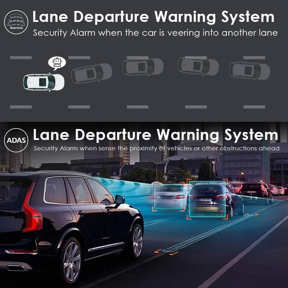 Dual 1080P 4G Android 8.1 10 Inch Stream Media Car Rearview Mirror Bluetooth Camera Car Dvr ADAS Super Night WiFi GPS Dash Cam 3