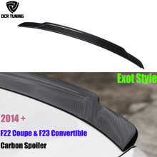 Para BMW F22 F23 Spoiler 2 Series F22 Coupe & F87 M2 alas de fibra de carbono estilo Exot 2014-UP 218i 220i 228i M235i(China)