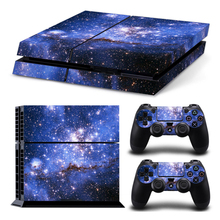 Galaxy Star Vinyl Skin Sticker Cover For Sony PS4 Console with 2 Controllers Decal For Ps 4 For Ds 4 Gamepad