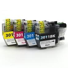 LC3011 чернила carttidge для brother MFC-J491DW MFC-J497DW MFC-J690DW MFC-J895DW, полный набор чернил с чипами