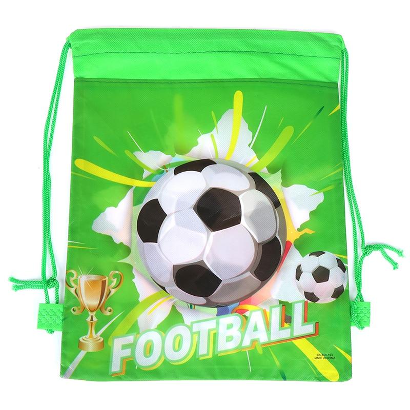 Football Non-woven Drawstring Bag Backpack Kids Travel School Decor Gift Bags