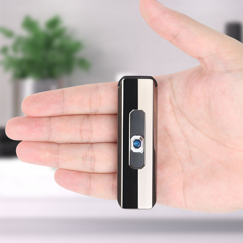 2020 1pc Rechargeable USB Electric Lighter Electronic Charging Cigarette Lighter Smokeless Double-sided Cigarette Lighters DA