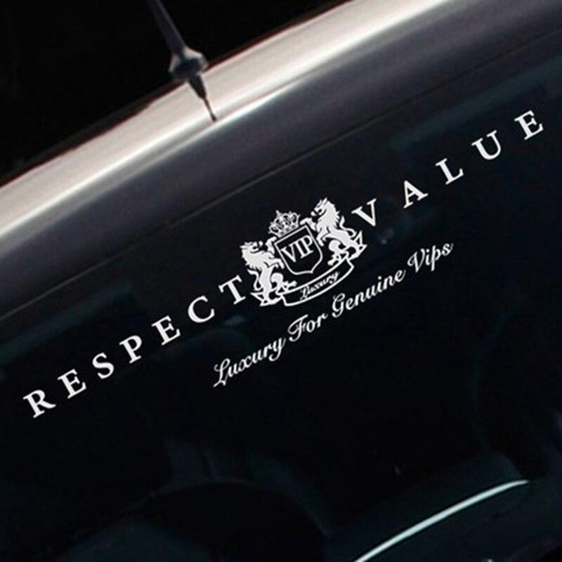 Noizzy Respektieren Wert Echtem VIP Luxus Auto Aufkleber Auto Frontscheibe Aufkleber Vinyl Reflektierende Automobil Tuning Auto Styling
