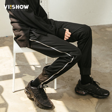 VIISHOW Summer Designer Brand Casual Cotton Pants Male length Straight Leg Stretch Mens Dress Zippers pant Trousers