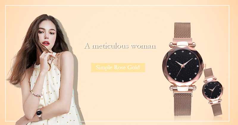 H0088e2c0a3494e828536dbc726f5be1a9 Luxury Women Watches Ladies Magnetic Starry Sky