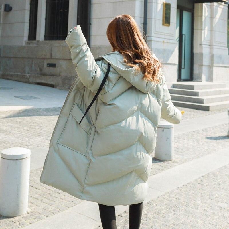 Chaqueta acolchada de algodón para mujer chaqueta de invierno de talla grande para mujer sudaderas con capucha para mujer abrigos de invierno Parkas espesar abrigo cálido para mujer C5950 - 3
