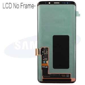 Image 4 - 100% супер AMOLED Замена с рамкой для SAMSUNG Galaxy S9 S9 + ЖК дисплей сенсорный экран дигитайзер G960 G965 s9 plus LCD