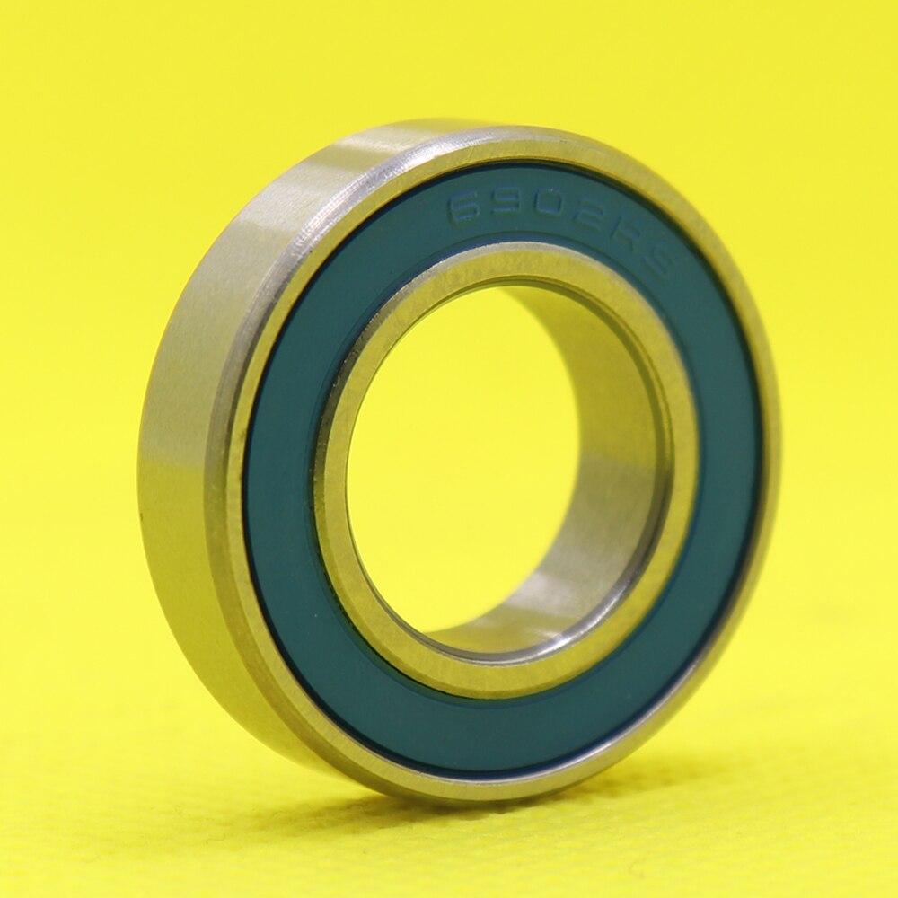 6902 híbrido cerâmica rolamento 15x28x7mm ABEC-1 (1 pc) bicicleta suportes de fundo & peças sobressalentes 6902rs si3n4 rolamentos de esferas