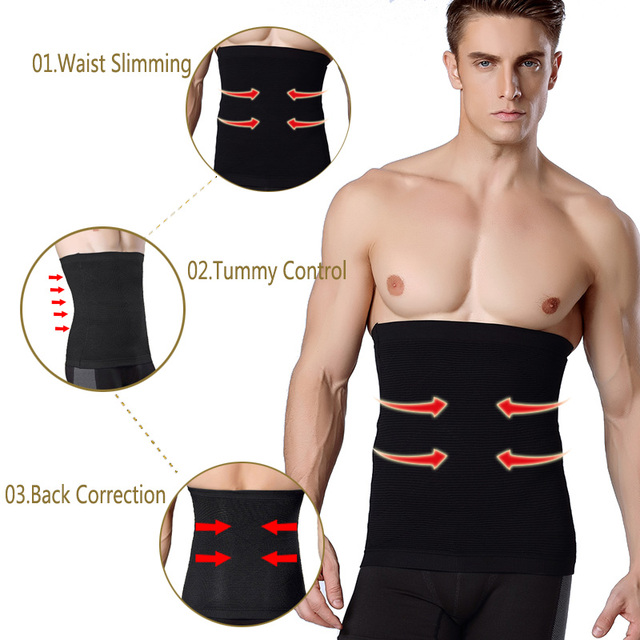Men Waist Trimmer Belt Slimming Body Shaper Weight Loss Waist Trainer Shapewear Sweat Girdle Corset Men Fitness Belt 3