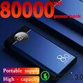 Power Bank 80000mah большой емкости портативная Быстрая зарядка Dual USB Power Bank Внешняя батарея для Samsung Xiaomi и других смартфонов