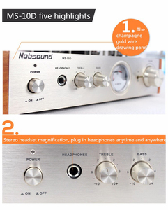 Image 2 - Nobsound MS 10D צינור מגבר אודיו כוח מגבר 25W * 2 ואקום מגברי תמיכה 110V או 220V Hifi מגבר MS 10D