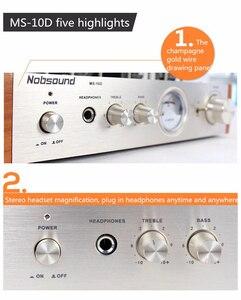 Image 2 - Nobsound MS 10D tubo amplificador de potência áudio 25 w * 2 amplificadores de vácuo suporte 110 v ou 220 v amplificador de alta fidelidade ms 10d