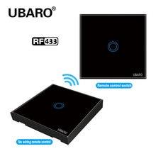 Ubaro uk/eu Хрустальная стеклянная панель беспроводной светильник