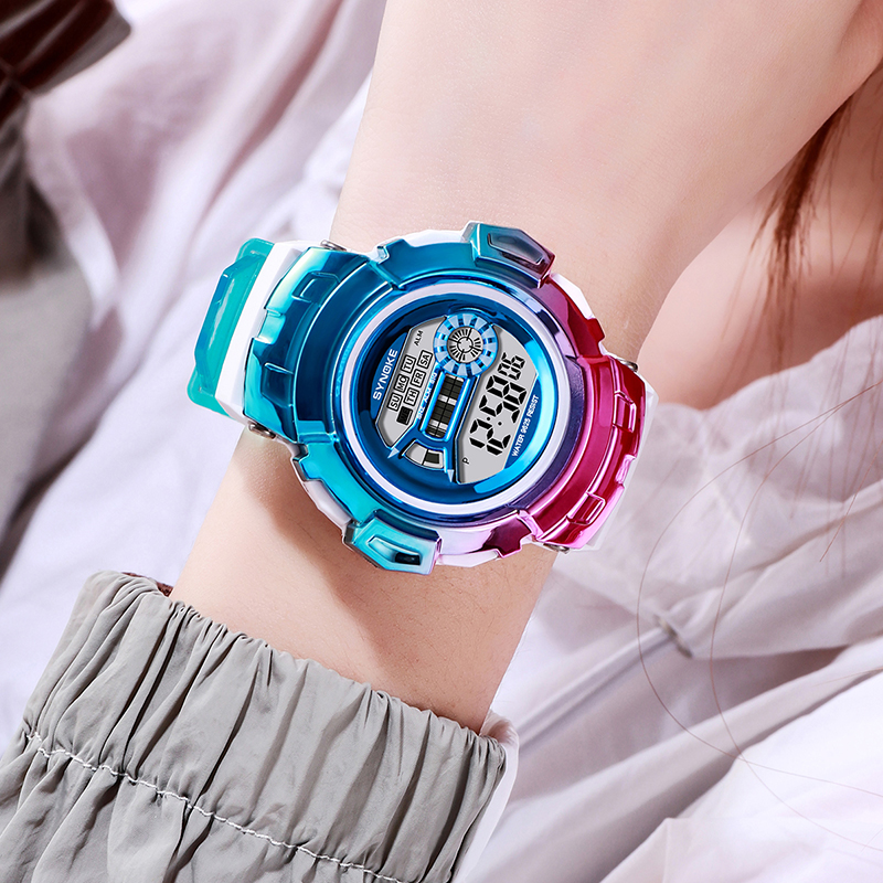 Colorful Girls Watch PANARS Male Watch Dress Digital Ladies Female Clock Multifunction Waterproof Dating Reloj Digital Mujer